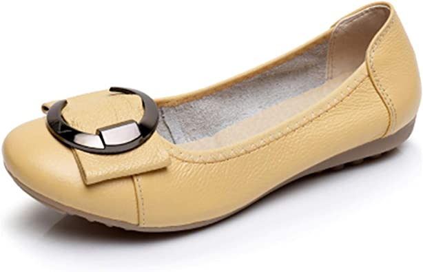 Auspiciousi Zapatos de Cuero Genuino de Talla Grande para