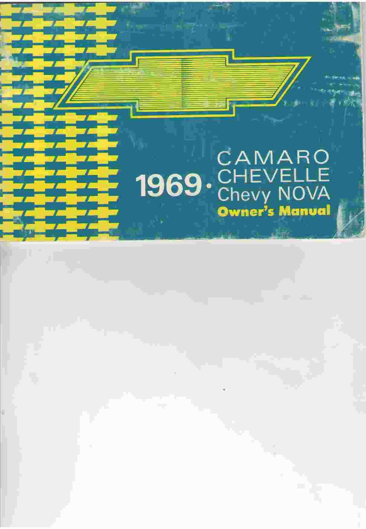 1969 CAMARO CHEVELLE CHEVY NOVA OWNER'S MANUAL: General Motors: Amazon.com:  Books