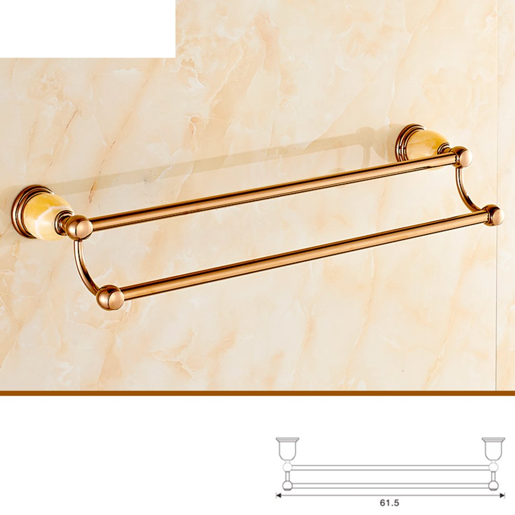 European-style rose-gold Towel rack/towel rack/Jade set bathroom ...