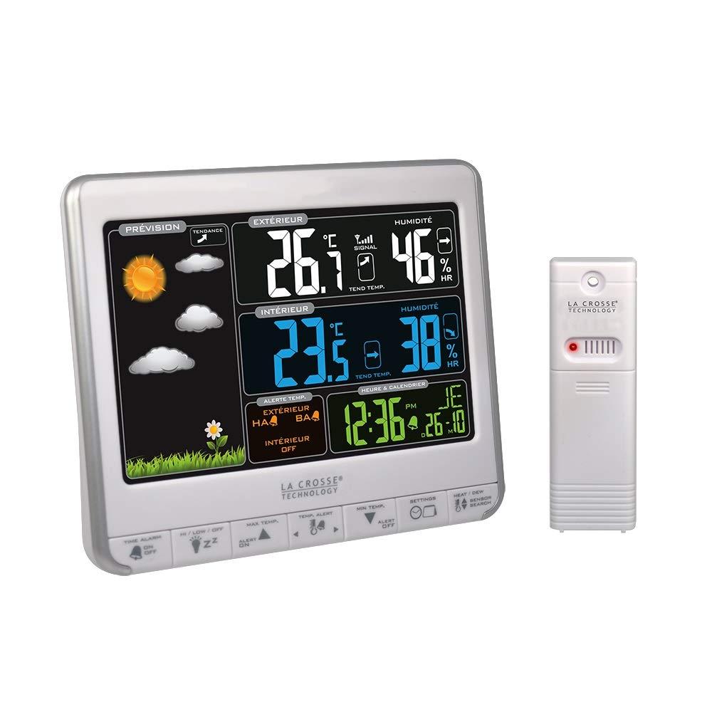 7700e92e6f849d La Crosse Technology WS6826 Station météo colorée - Noir  Amazon.fr  Jardin