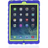 Gumdrop Cases Droptech for Apple iPad Air Rugged Tablet Case Shock Absorbing Cover Royal Blue/Lime A1474, A1475, A1476