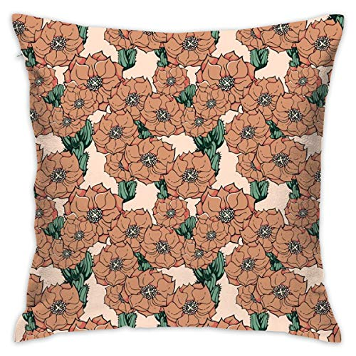 (yifeier Adobe Colored Cactus Flowers_3140 Decorative Pillow Case Home Decor Pillowcase (18x18 Inches) )