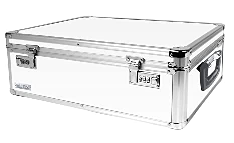 Vaultz Locking Storage Box, 6.5 X 19 X 13.5 Inches, White (VZ00177)