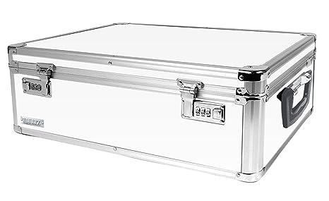 Vaultz Locking Storage Box, 6.5 X 19 X 13.5 Inches, White (VZ00177)
