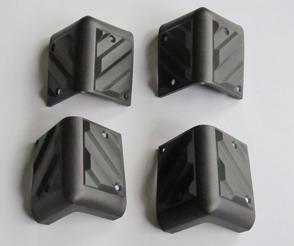 Guitar Amplifier Protector Corner Speaker Cabinet Corners, 4 Pcs Plastic Black