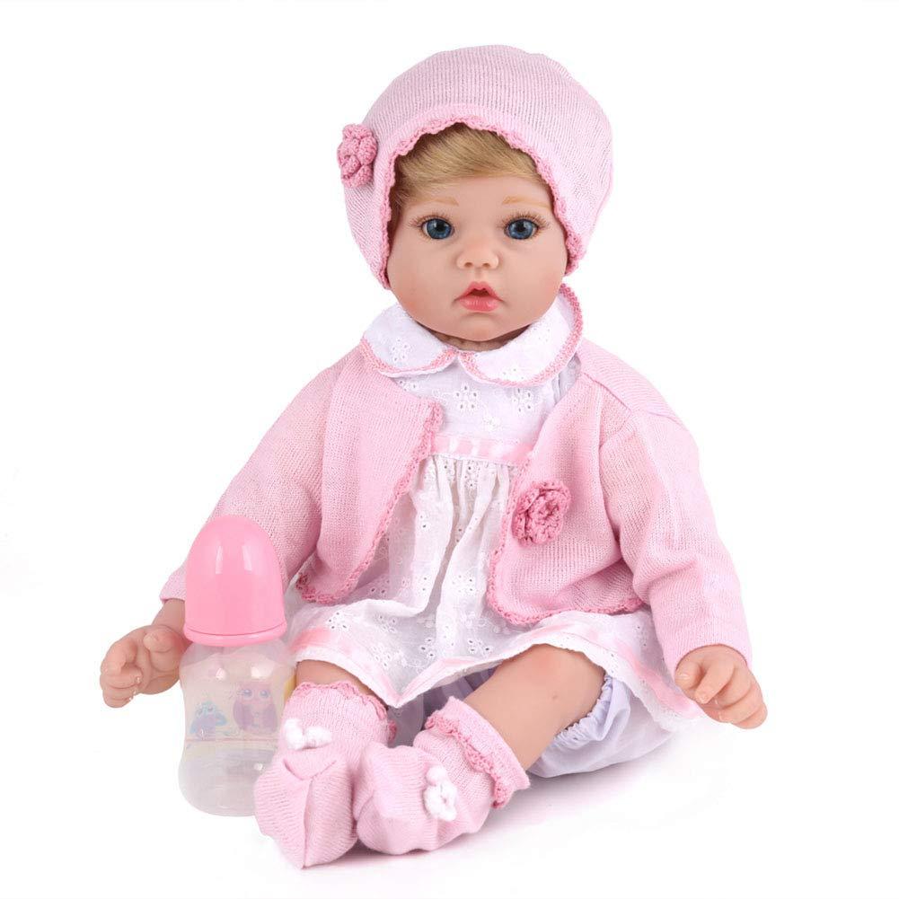 WANGXN Renacimiento simulación bebé Suave plástico Creativo Regalo de cumpleaños Padre-niño Juego con bebés Juguetes