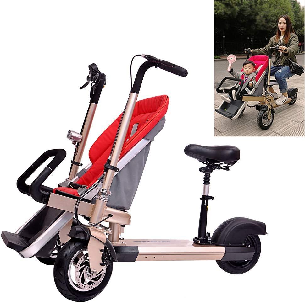 FLy Triciclo Plegable para Niño 2 En 1 Bicicleta Eléctrica para Niños Triciclo Plegable Adulto Eléctrico Desmontable con Batería De Litio De 48V 10AH 500W con Resistente A Los Golpes