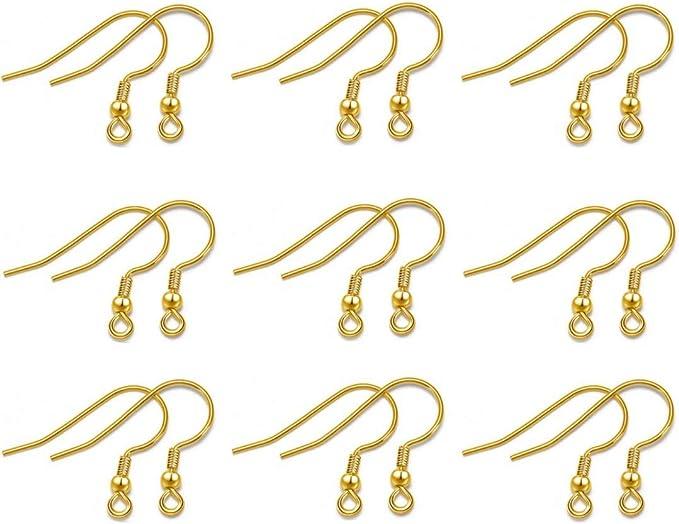 Wholesale DIY Jewelry Making Findings 100PCS Earring Hook Coil Ear Wire Supplies
