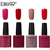 Elite99 Smalto Semipermente per Unghie in Gel UV LED 4pzs Colori Kit per Manicure Smalti Gel per Unghie Soak Off Base Coat Top Coat
