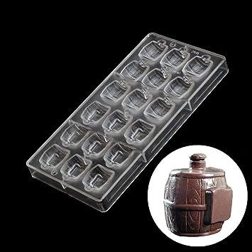 grainrain policarbonato en forma de barril de cerveza para tarta Chocolate moldes DIY bandeja de horno