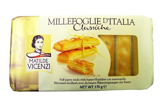 Matilde Vicenzi - Hojaldres italianos con mantequilla - 175 g - Pack de 3 unidades