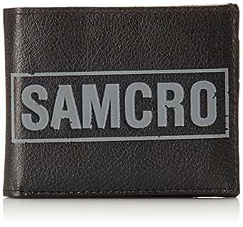 Sons of Anarchy Men's Samcro Bi-Fold Wallet, Black, One Size