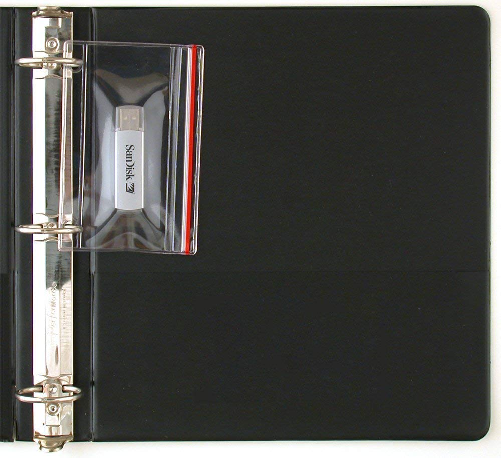 StoreSMART - Flash Drive Zipper Case for 3-Ring Binders - 5-Pack - Vinyl Plastic - R1831-FLASH5