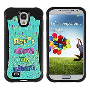 "Hypernova Defender Series TPU protection Cas Case Coque pour Samsung Galaxy S4 IV I9500 [Touch My Phone Manos Fuera de Texto""]"