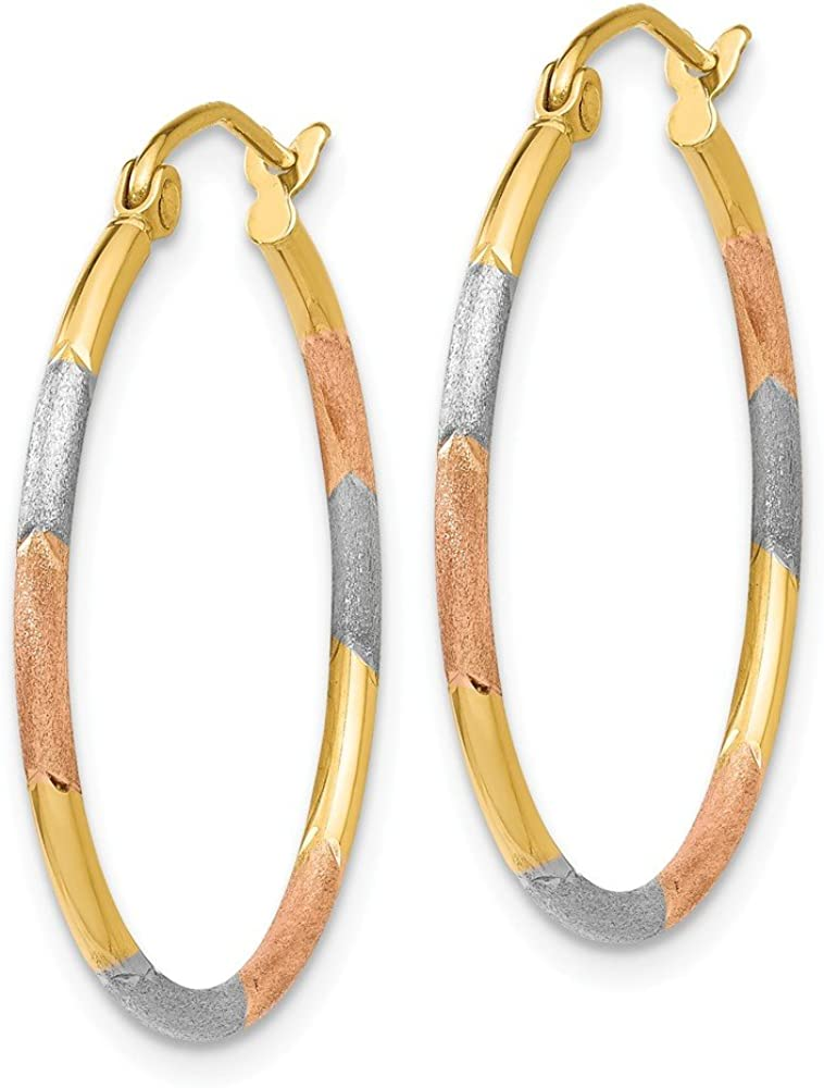 B00NC6QVF2 14k Yellow Gold White Rose 1.5x25mm Hoop Earrings Ear Hoops Set Fine Jewelry For Women Gifts For Her 61r9YgYzCoL.UL1000_
