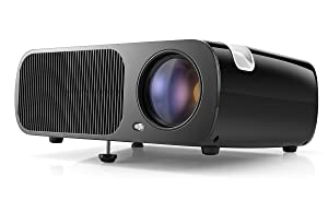 HD Video Projector,Pomarks Multimedia Home Theater Cinema Projector Q2, 2600 Lumens LCD Projector Support 1080P Full HD VGA/HDMI/USB/SD/AV Input , Max 200-Inch Display - Black