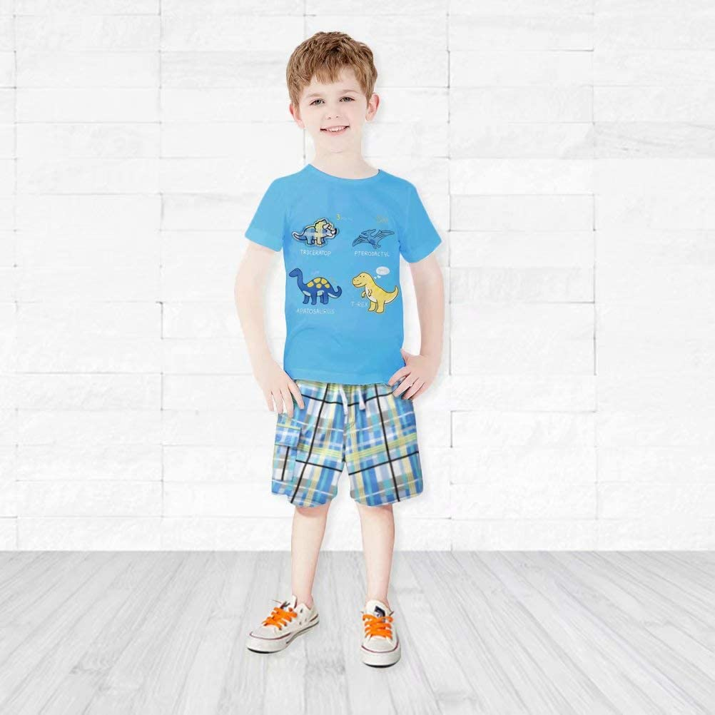 Gorboig Toddler Boy Clothes Summer Outfits Short Sleeve Clothing Set T-Shirt/&Shorts 2 Packs 2-7Yrs