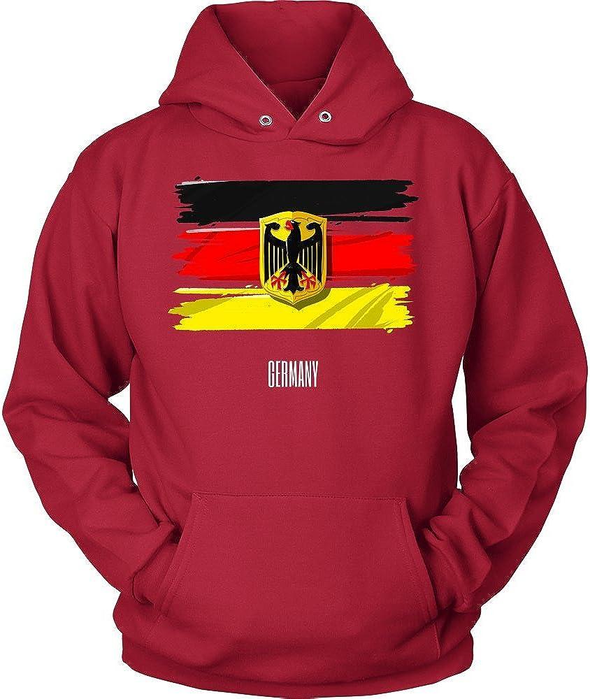 German Flag Vintage Retro Distressed Hoodie Germany