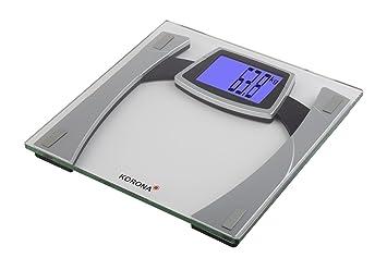 Korona Gesina - Báscula de baño (LCD, Plata, Transparente, 30 cm, 30 cm, 2,4 cm): Amazon.es: Salud y cuidado personal