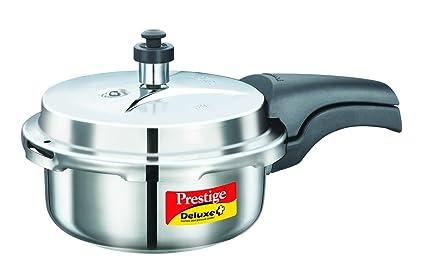 Prestige Deluxe Plus Stainless Steel Pressure Cooker, 2 Litres