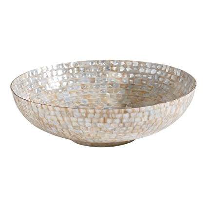 Mother Of Pearl >> Amazon Com Ethan Allen Ivory Mother Of Pearl Bowl Home Kitchen