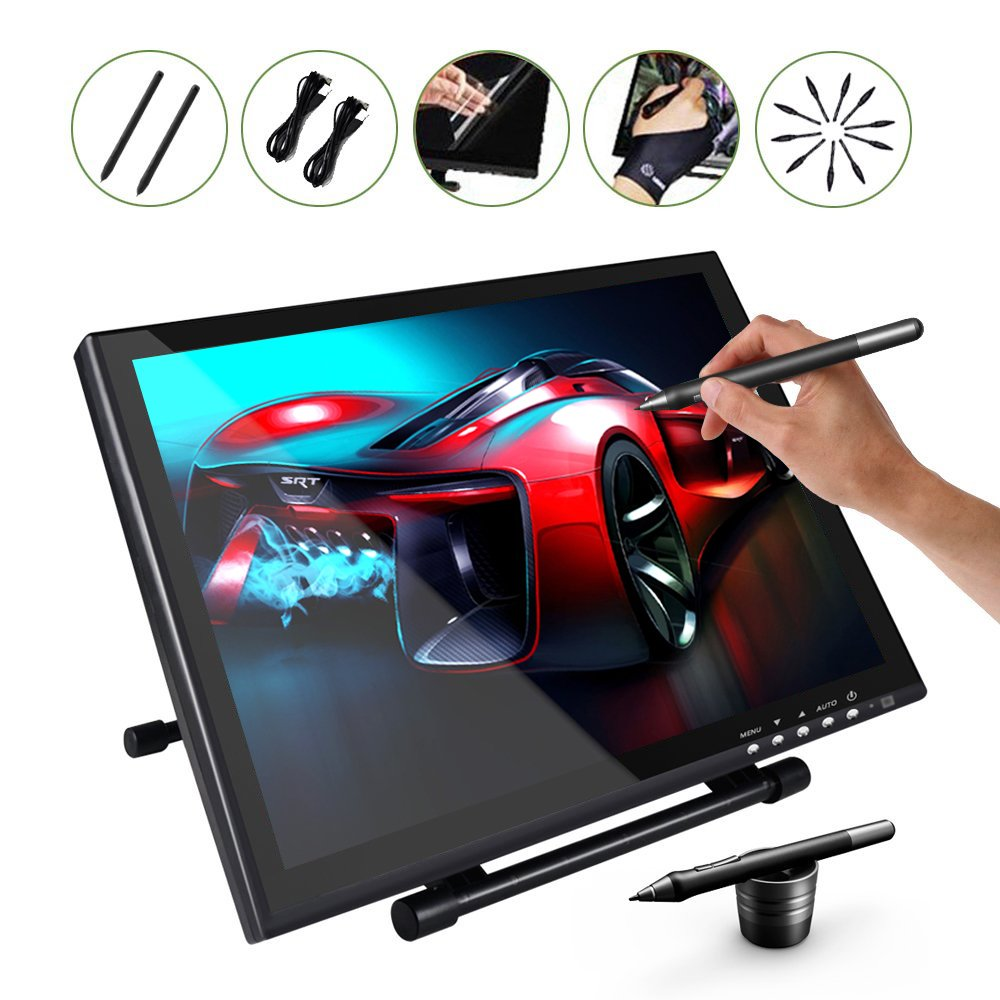 Ugee 1910B Graphics Drawing Monitor Digital Pen Display 19 Inches with 2 Rechargeable Pens, 1 Drawing Glove, 1 LCD Screen Protector