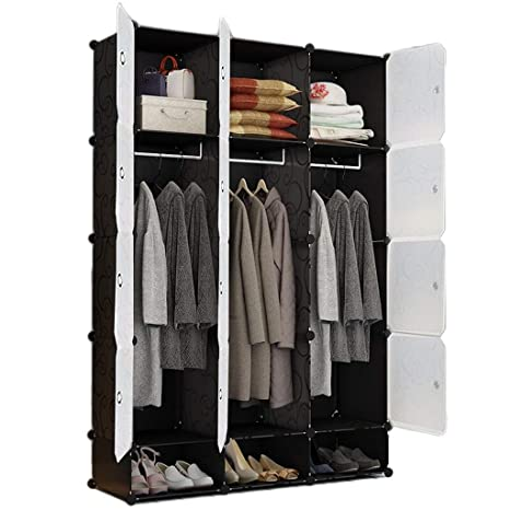 Amazon.com: LittleBeauty Foldable Wardrobe Bedroom ...