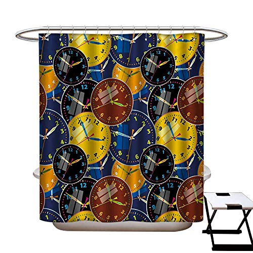 Used, Clock Shower Curtains Mildew Resistant A Pattern with for sale  Delivered anywhere in USA