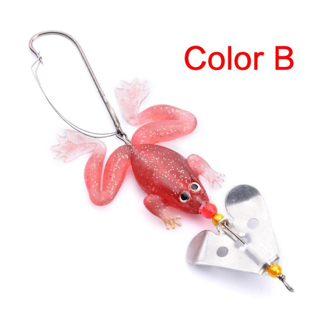 Dreamyth 1PC Fishing Lures 9cm Plastic Hard Bass Baits 4 Colors Minnow Lures Affordable (Multicolor B)