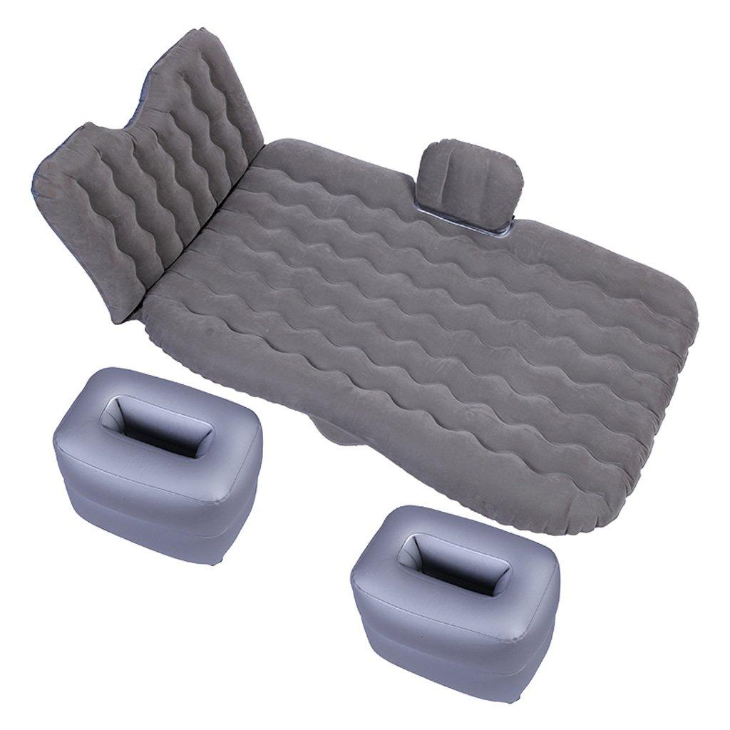 車のエアベッドのカーインフレータブルベッドの睡眠パッドのカーリアエアベッド B0763KB5KV  Gray