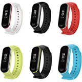XIHAMA Xiaomi Mi Band 3 Replacement Band, Silicon Sport Colorful Replacement Strap Wristband Accessories for