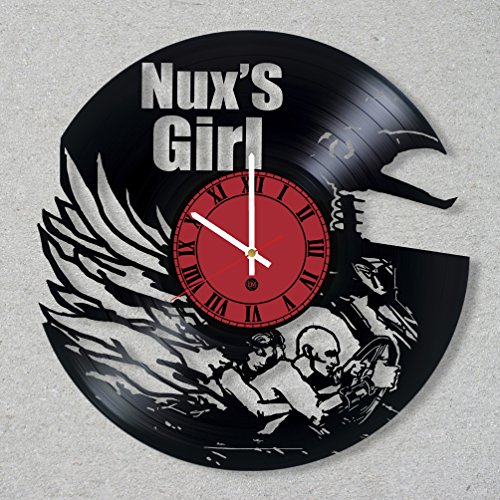 Vinyl Record Wall Clock MAD MAX Fury Road Nux and Capable Movie decor unique gift ideas for friends him her boys girls World Art Design