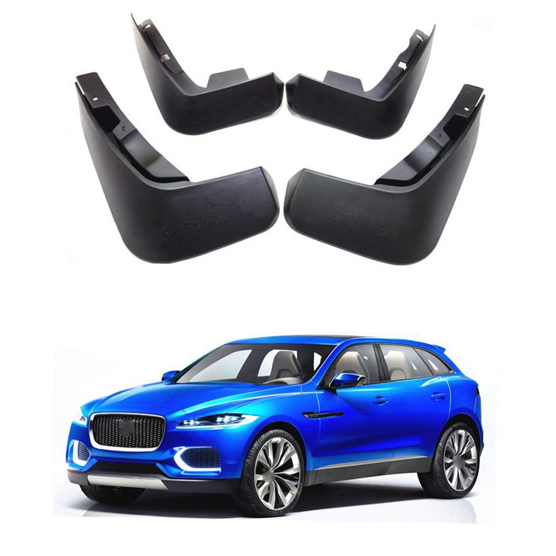 Richdoo New OEM Set Splash Guards Mud Guards Mud Flaps FOR F-PACE 2015-2018