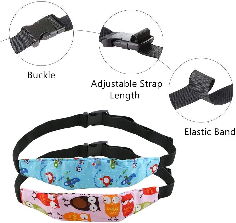 Yababllj 5Pcs Baby Kids Safety Head Support Toddler Baby Car Seat Sleeping Head Support Band Car Seat Nap Aid Holder Belt for Kids Children Baby