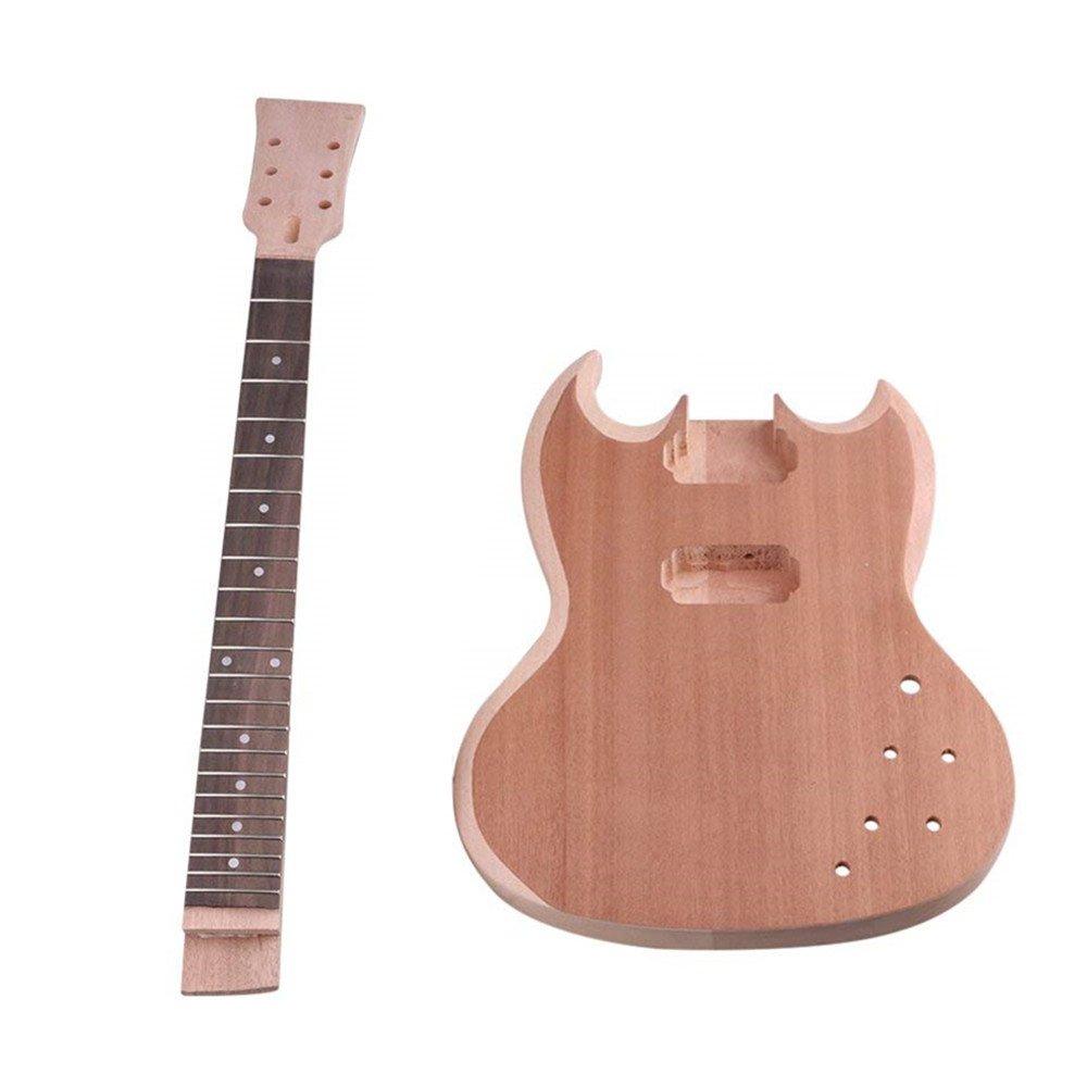 エレキギターセット DIYセット マホガニー エレキギターキット   B07CJN5YT4