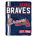 MLB Atlanta Braves Micro Raschel Throw, One Size, Multicolor