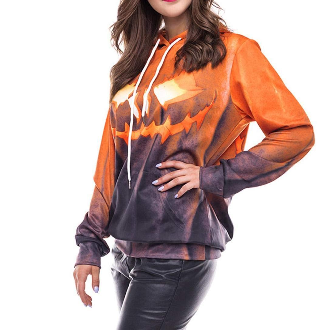 Amazon.com: FimKaul Halloween Scary Pumpkin Face Jack Womens Hoodie Costume Tshirt Tee: Sports & Outdoors