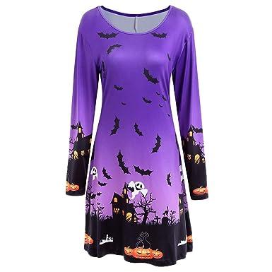 NRUTUP Halloween Shirts for Women, Womens Dresses Evening Prom Costume Swing Dress Skirt,Clearance