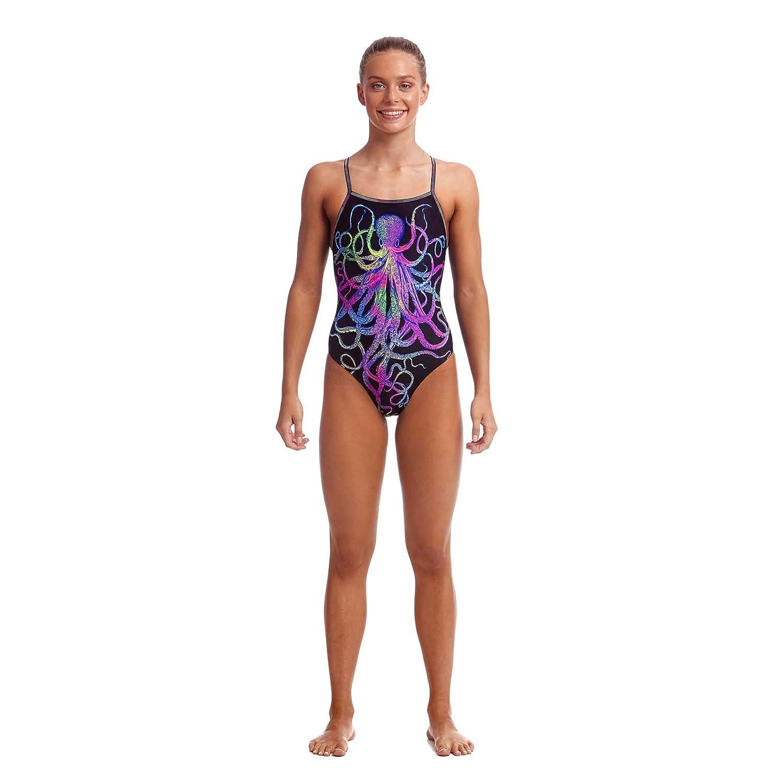 Schwimmanzug f/ür das Schwimmtraining Funkita Badeanzug Octopussy M/ädchen