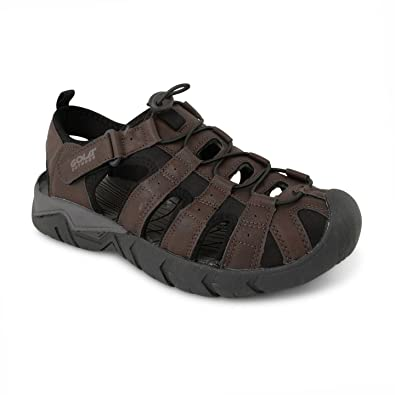 8416ac800 New Mens Gola Flat Sports Velcro Closed Toe Walking Trekking Sandals Sizes  UK 7-12