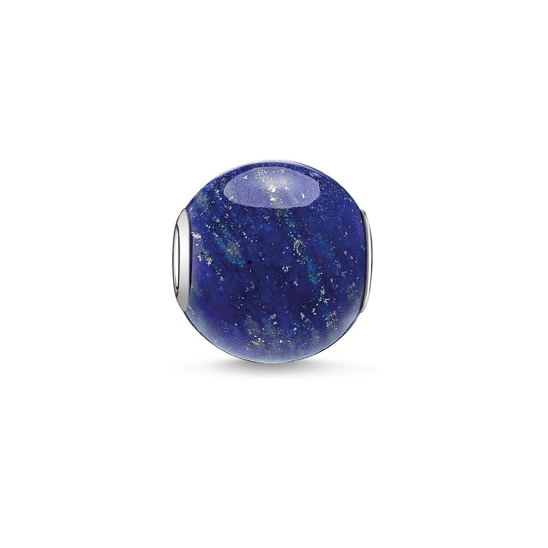 Thomas Sabo Women Men-Bead Karma Beads 925 Sterling Silver Lapis Lazuli polished blue K0071-592-1