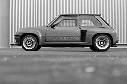 Poster of Renault 5 Five Turbo 2 T2 Classic Hot Hatch Black and White HD 24