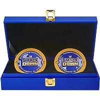 $99 » WWE Smackdown 20th Anniversary Championship Replica Side Plate Box Set
