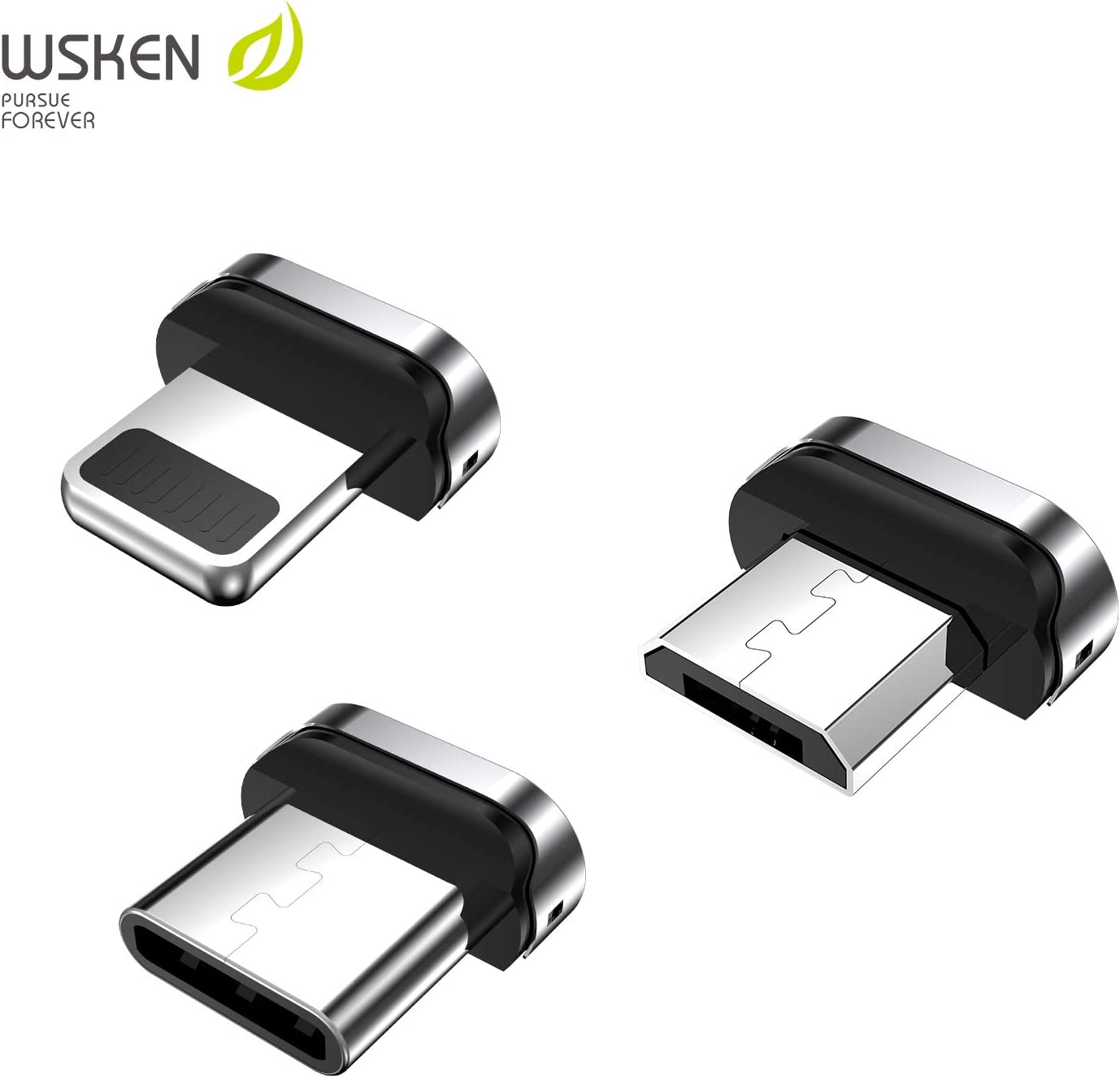 Handed Operation Inside the Card for Apple Iphone7 SE 6 6S Plus Ipad 3 4 Air 2 Ipod Lightning adapter Wsken Round Magnetic Charging Cable Magnet Connector Non Data Transfer Support One