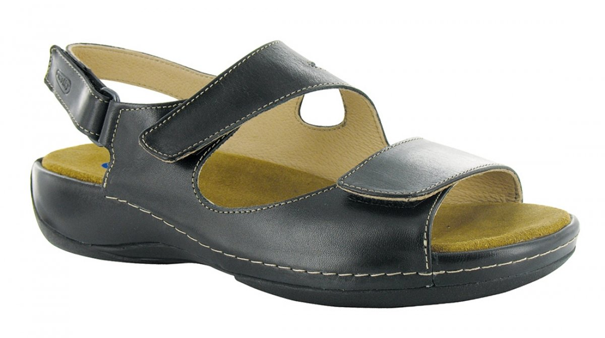 Wolky Comfort Sandals 00315 Liana B00593XD16 39 M EU|30000 Black Leather