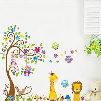 Superior Wandtattoo Wandsticker XXL Deko Tiere Kinder Löwe Kinderzimmer Wald Baum