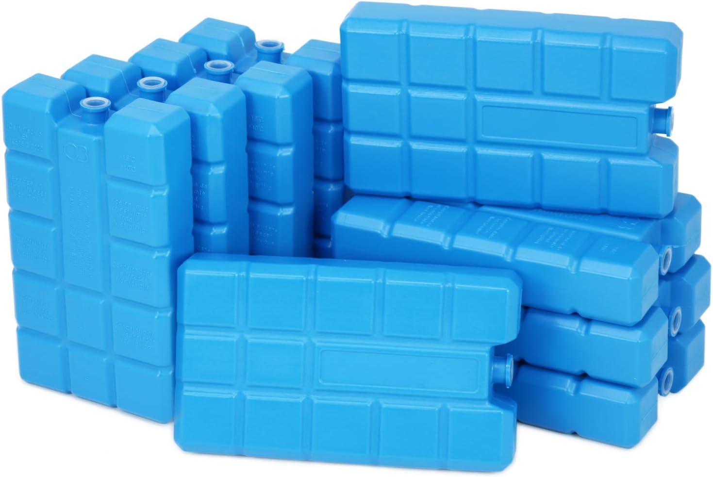 Compra com-four® 9X Big Pack de Hielo en Azul - Elementos de refrigeración para neveras y Bolsas de frío - Baterías de refrigeración para el hogar y el Ocio en Amazon.es