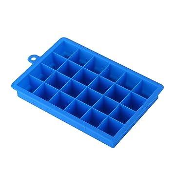 selecto Bake - silicona Cubito de hielo bandeja Moldes 24-cube bandejas: Amazon.es: Hogar