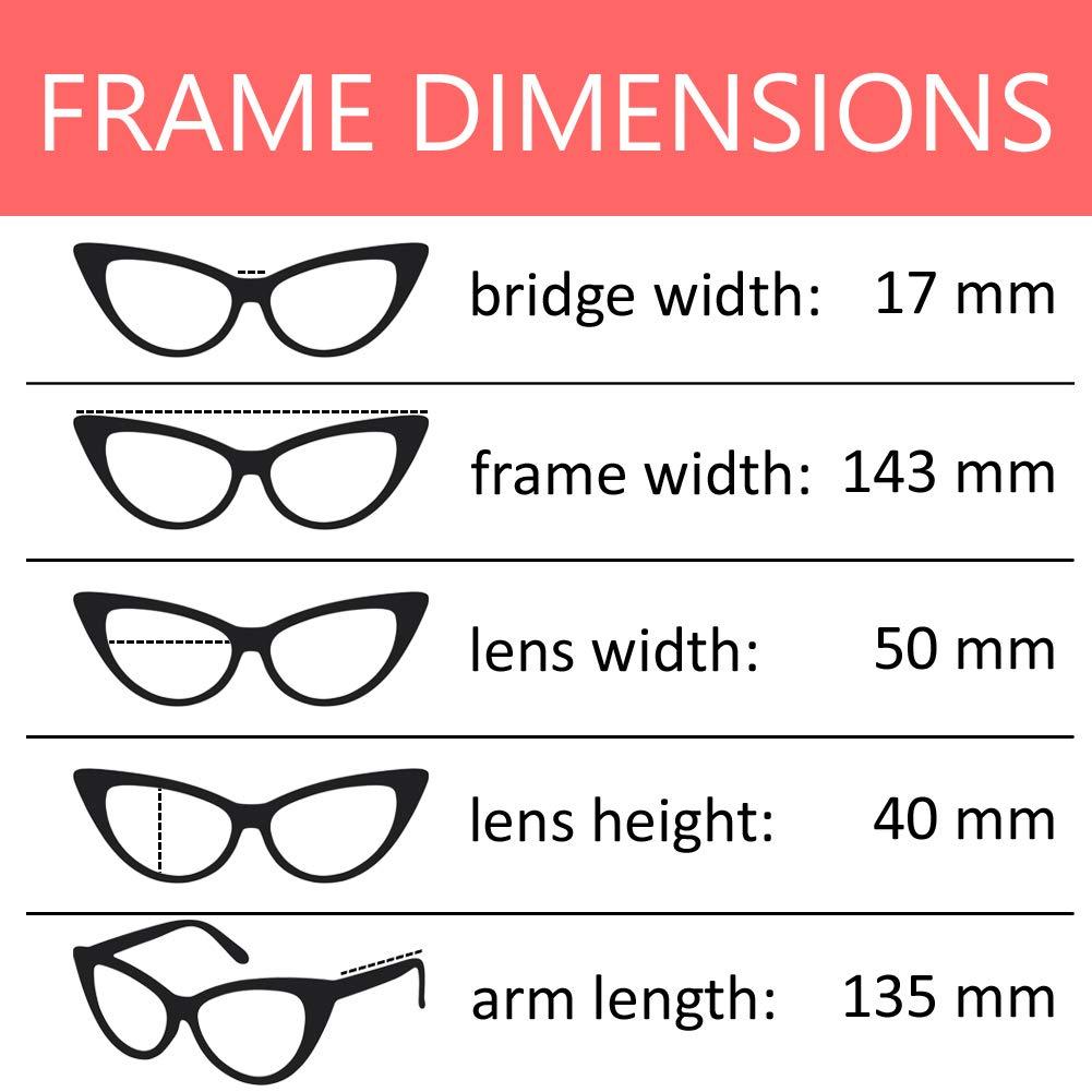 f93679f5f4 Amazon.com: OWL Cateye Glasses for Women Vintage Retro 1950's Shades Black  Frame Clear Lens: Clothing