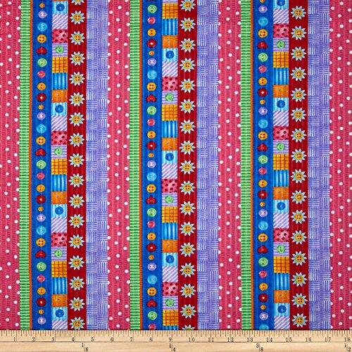Tutti Frutti Plisse Stripes Multi Fabric By The Yard